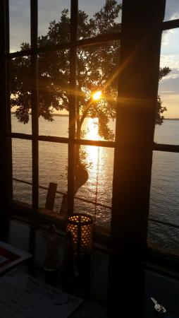 Spicer, MN: Sunset view at the dinner table.
