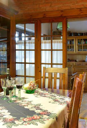 Stare Juchy, Polen: breakfast table