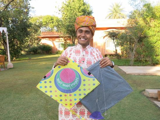 The Oberoi Rajvilas: Amazing friendly and responsive staff (I showed an interest in kites)