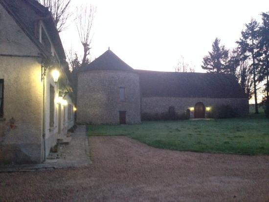 Hanches, France: early morning at Le Colombier