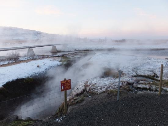 Reykholt, Island: Dsitibution Pipe