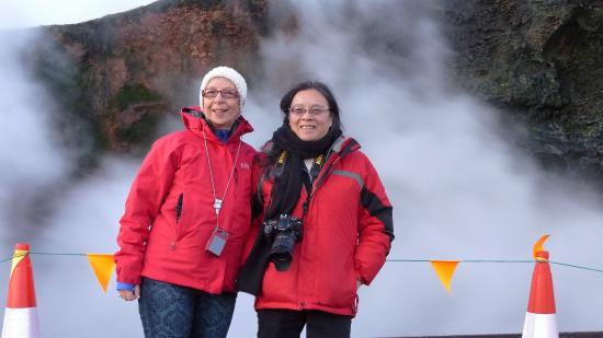 Reykholt, Island: Happy Traveller with Good Friend