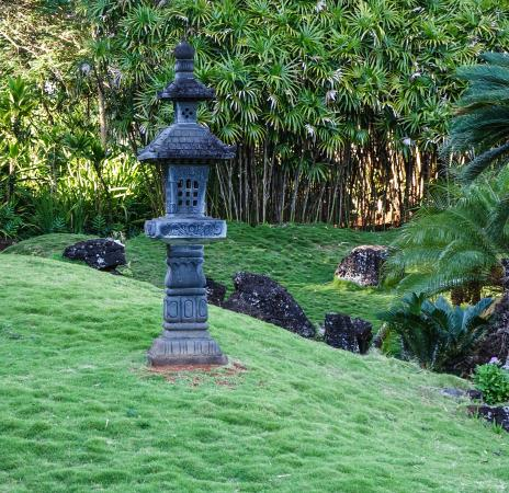 Kalaheo, Havai: Paco's Tacos Cantina is on grounds of Kukuilono golf course which includes a Japanese garden