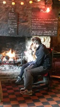 Princetown, UK : roaring fire