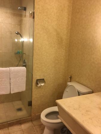 toilet and shower picture of grand mutiara hotel berastagi rh tripadvisor co uk
