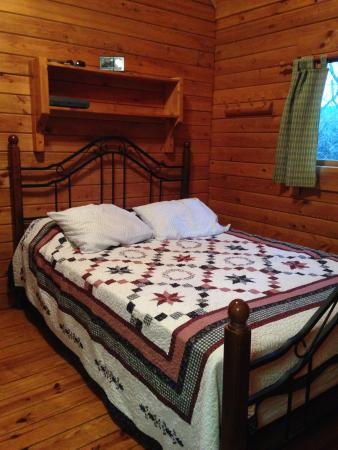 Shenandoah River Outfitters and River Cabins: Very spacious bedroom with queen bed.