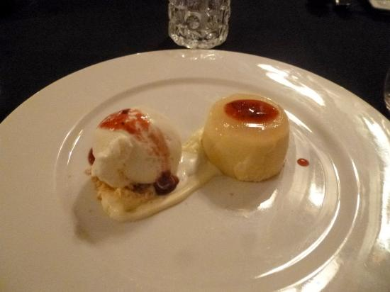 Beaumaris, Australia: Panna-cotta with ice cream
