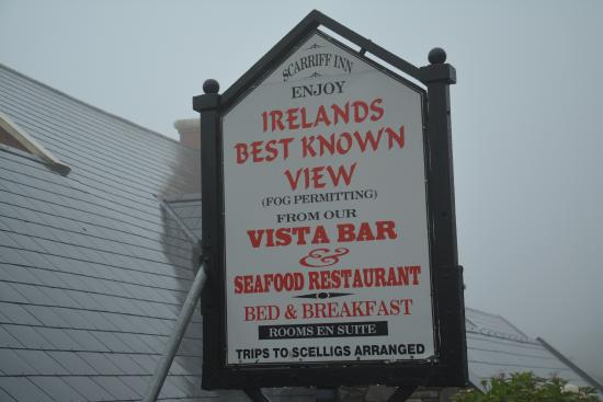 Caherdaniel, Irlande : Best view, fog permitting