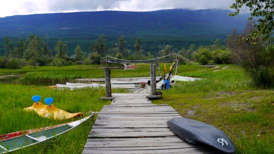 Golden, Canada: crossing the wetlands to get to the dock