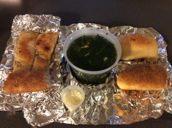 Williston Park, NY: ほうれん草とかき卵のスープ