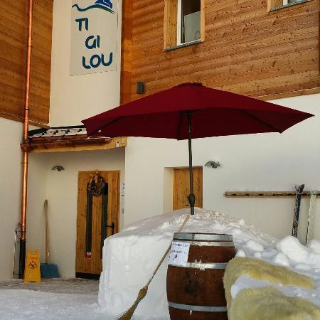 Belalp, Suiza: Hotel / Pension Tigilou