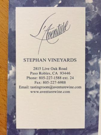 L'Aventure Winery: Owner