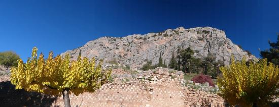 Pitho Rooms: Delphi ruins and surrounding landscape