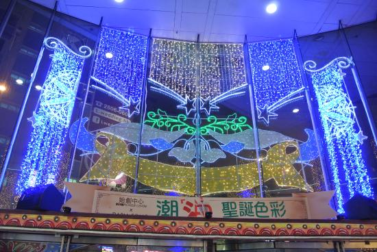 LED Christmas lights - Picture of Pioneer Centre Shopping Mall, Hong ...
