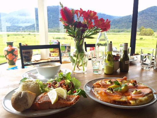 Westland National Park (Te Wahipounamu), New Zealand: Nice meal with a view