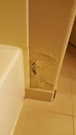 Country Inn & Suites by Radisson, College Station, TX : Mold on bathroom wall, unimaginable....