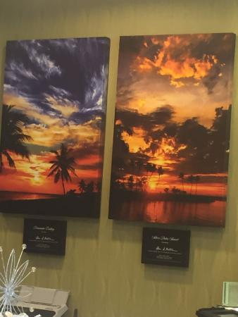 Sunset pictures on the wall in the lobby, Silver Palms Inn  |  830 Truman Avenue, Key West, FL