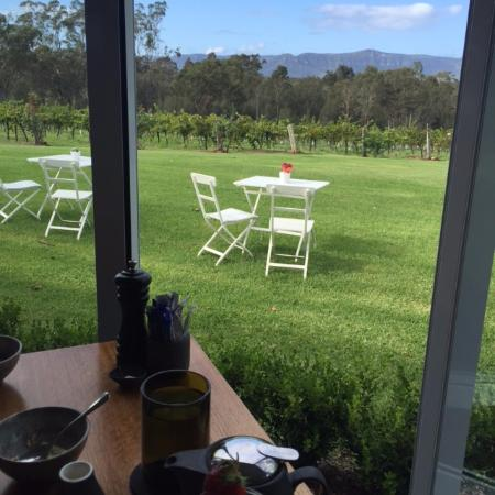 Spicers Vineyards Estate: View from breakfast at Botanica