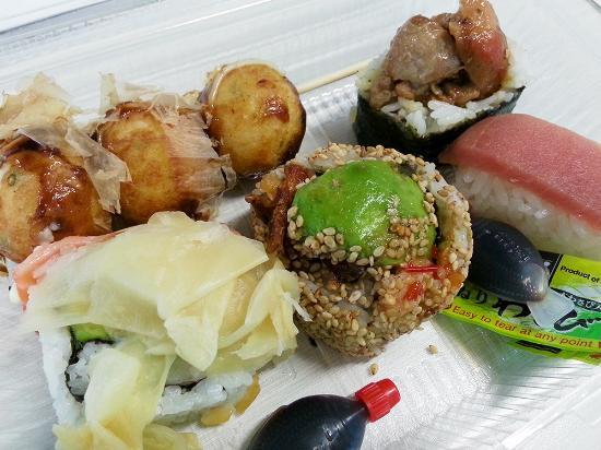 TJ Katsu: Mixed selection of sushi