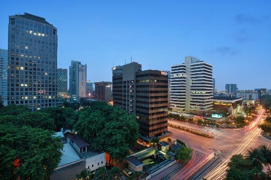 view from hotel room of holiday inn express jakarta wahid hasyim rh tripadvisor com au