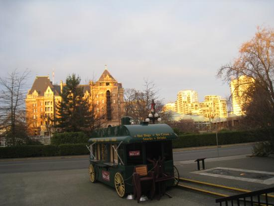 Empress Hotel National Historic Site of Canada: as the sun sets on the Hotel Empress...