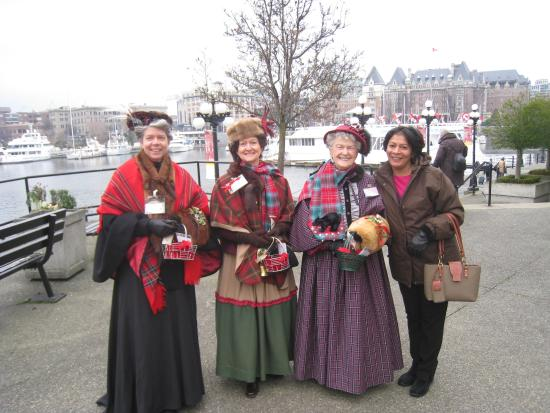 Empress Hotel National Historic Site of Canada: with the local ladies...