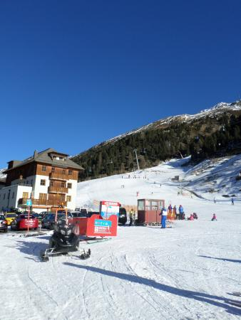 Chalet Christophorus: from the bottom of slope, chalet view
