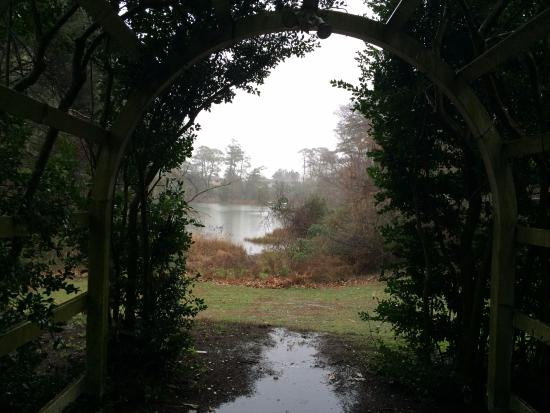 Thoroughgood House : Looking through the arbor towards the water