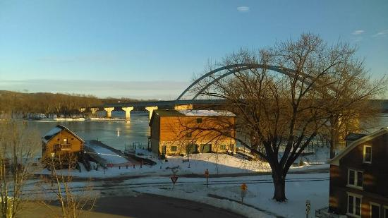 Marquette, IA: View from the family room area