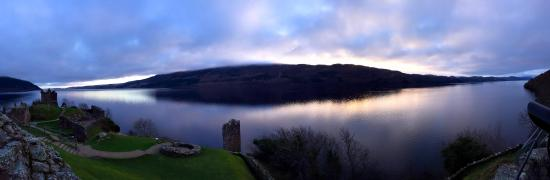 Around Loch Ness: Sunrise over Urquhart Castle