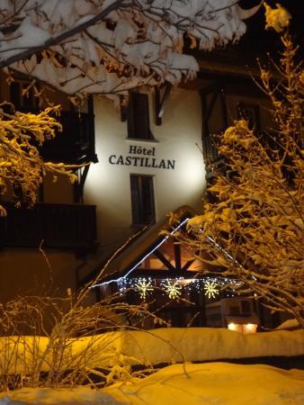 La Grave, Prancis: hotel hiver nuit