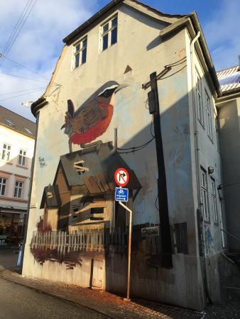 Vaegmaleri Fugl på tag
