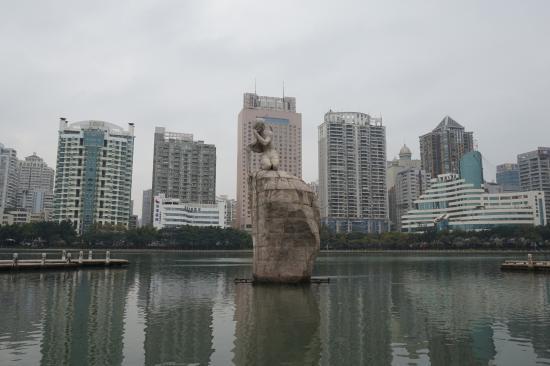 Xiamen Bailuzhou Park: Egret Goddess statue