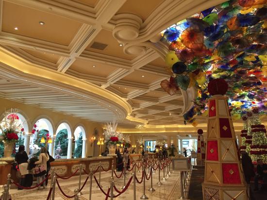 Las Vegas Strip Bellagio Hotel, Lobby, Shops, Gardens Las ... |Las Vegas Bellagio Hotel Lobby