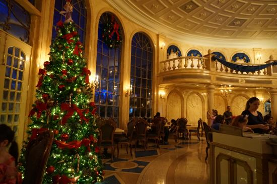 be our guest dining rooms | Xmas tree in the dining room - Picture of Be Our Guest ...
