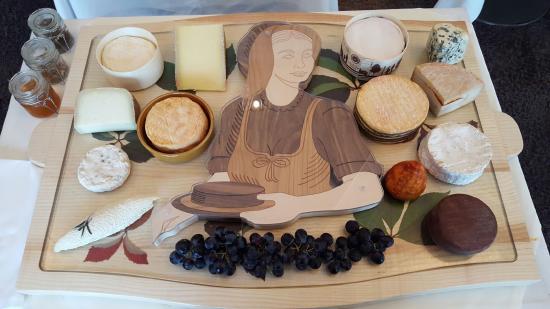 Monswiller, France : le plateau de fromages