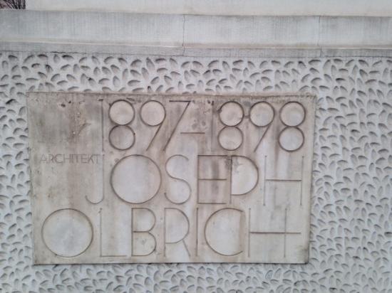 Secession Building (Secessionsgebaude) : corner stone of the secession building