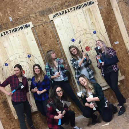 Edmontons newest birthday party destination Come axe throwing