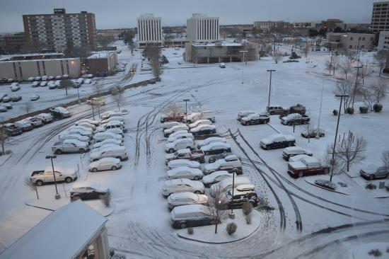Snowy parking lot Picture of Hilton Garden Inn Albuquerque Uptown