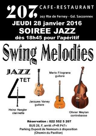 Le Grand Saconnex, Svizzera: Soirée Jazz 28 Janvier des 19h45