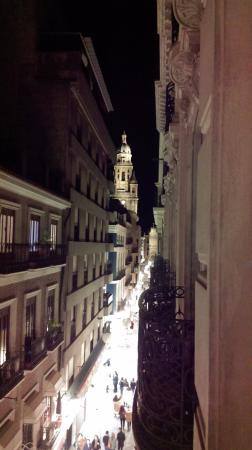 The Cathedral Hostel: The Murcia Cathedral from the balcony