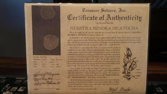 Key West Treasure Chest: All pieces come with certificate