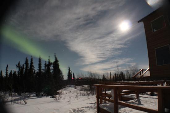 Aurora Borealis Lodge: Porch outside room