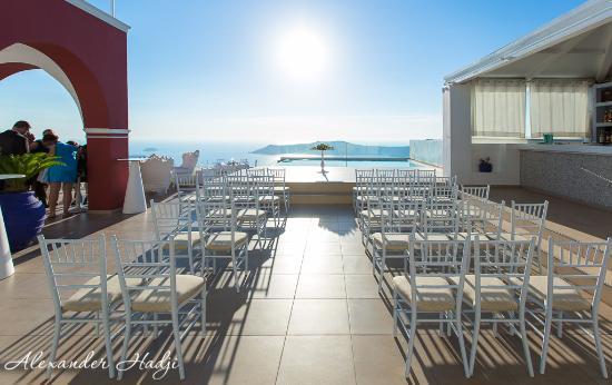 La Maltese Estate Villa Wedding Ceremony Set Up