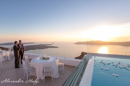 La Maltese Estate Villa Reception Dining Set Up
