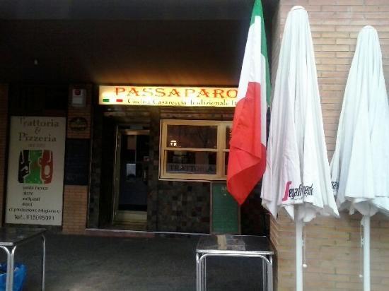 Passaparola Trattoria&Pizzeria: Vista desde fuera