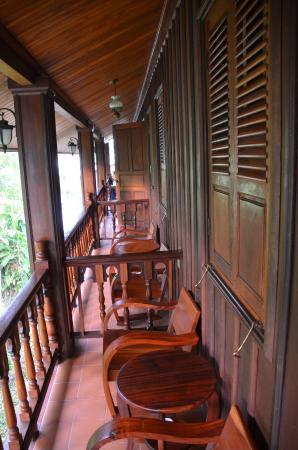 Villa Chitdara: notre balcon