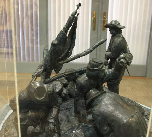 National Museum of Civil War Medicine: A Bronze Sculpture in the Lobby