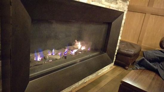 Bridge Restaurant and Bar 1815: Cosy fire in the bar