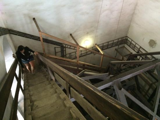 Bardejov, Slovakien: stairs to the top of the tower